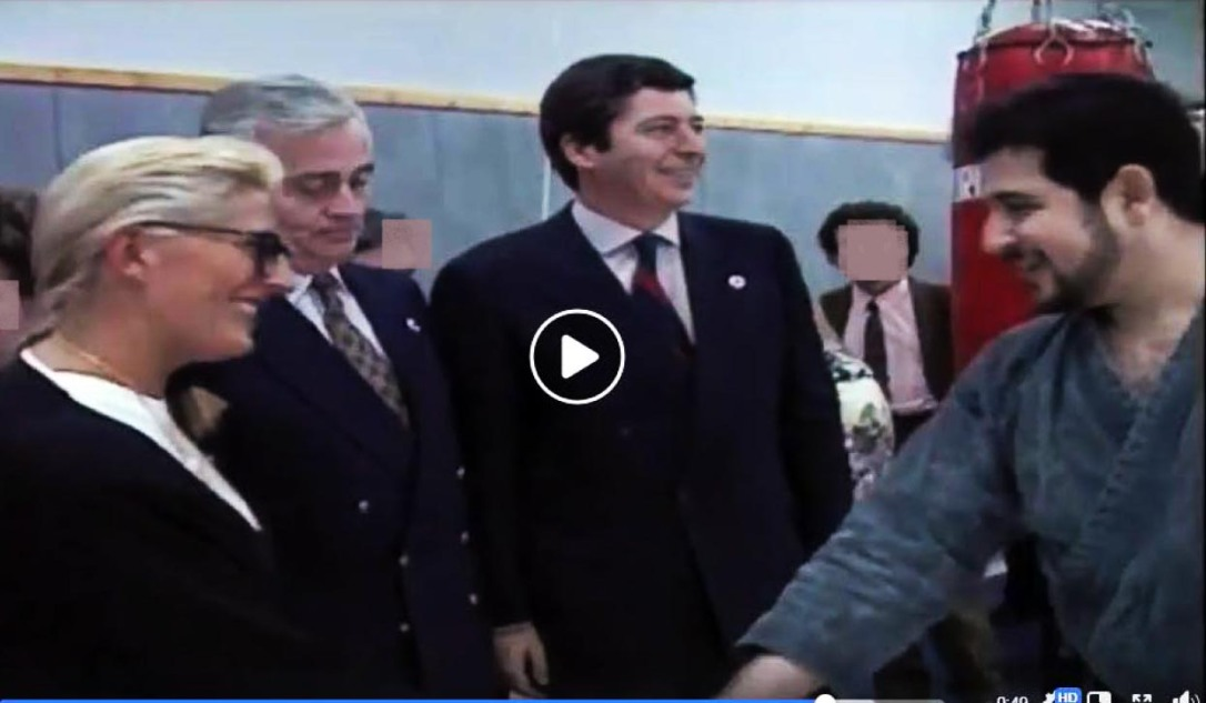 Inauguration Marcel Cerdan Janvier 1992 - Isabelle Balkany